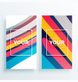 colorful stripes vertical card design vector image