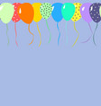 colorfull balloons for celebration with place for vector image vector image