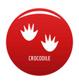 crocodile step icon red vector image vector image