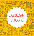 design outline icons set vector image vector image