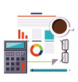 financial accounting stock market analysis budget vector image