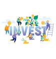 financial profit investment income concept vector image vector image