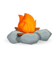 flame campfire icon cartoon style vector image