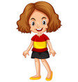 girl wearing shirt with spain flag vector image vector image