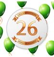Golden number twenty six years anniversary vector image vector image