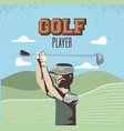 golf player in the course vector image