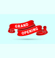 grand opening red vintage ribbon vector image vector image