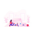 happy family loving mom and cheerful kid having vector image