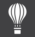 hot air balloon glyph icon transport and air vector image vector image