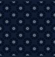 indigo blue polka dot floral seamless vector image