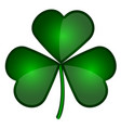 isolated patrick day clover vector image