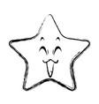 kawaii star funny character emoticon image vector image