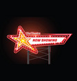 light sign billboard cinema theatre star shape vector image vector image