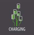 logo battery chargers in a tree vector image vector image