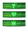 medical green banners set vector image vector image