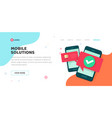 mobile development or solution service agency vector image