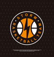 modern professional basketball logo for sport team vector image vector image
