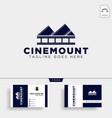 mountain cinema film movie simple logo template vector image vector image