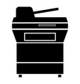 multifunction printer or automatic copier the vector image