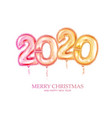 new year golden balloon golden metallic numbers vector image vector image