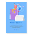 online educational courses studying material vector image