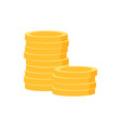 pile golden coins isolated money gold vector image