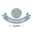 planet game logo simple gray style vector image vector image