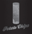 Potato chips icon vector image vector image