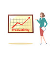 productivity and success achievement strategy vector image vector image