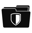 protected folder icon simple style vector image vector image