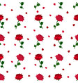 red rose pattern vector image vector image