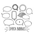round speech bubbles 2-01 vector image vector image