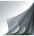 Set of 4 white paper curled corners with realistic vector image