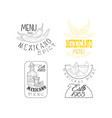 set of creative emblems for traditional vector image vector image