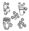 Set of Decorative Cups of Coffee vector image vector image