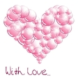 Soap bubbles In the form of heart vector image vector image