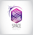 space agency purple logo vector image vector image