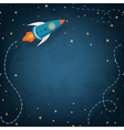 Spaceship with space for your text vector image vector image