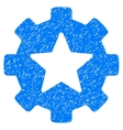 Star Favorites Options Gear Grainy Texture Icon vector image vector image