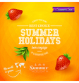 Summer design Bright poster for summer holidays vector image vector image