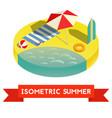 summer isometric icon ilustratuon vector image vector image