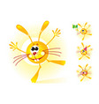sunny bunny mascot shining and smiling vector image