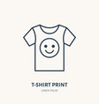 t-shirt flat line icon branding clothes sign vector image