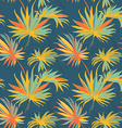 Tropical jungle floral seamless pattern background vector image vector image