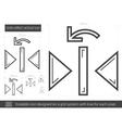 Undo reflect vertical line icon vector image