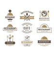 vintage logotypes and various symbols for design vector image vector image