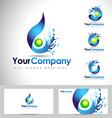 Water Logo Design vector image vector image