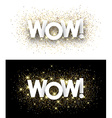 Wow paper banners vector image vector image
