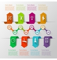 Infographics arrows timeline template vector image