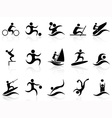 summer sport icons set vector image